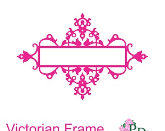 Victorian Frame (Studio V.3, svg, dxf) Cutting file digital instant download paper cut cutting template Dies Silhouette Cameo EasyCutPrintPD