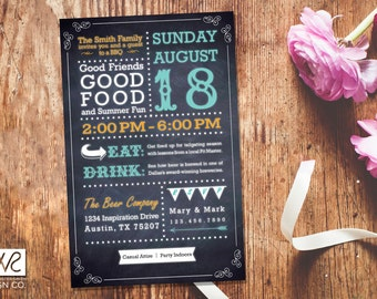Customizable Party Invitations - Printable Digital File