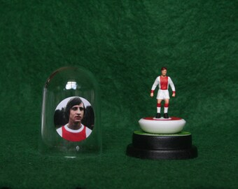 Johan Cruyff (Ajax)  - Hand-painted Subbuteo figure housed in plastic dome.