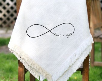 Embroidered Couples Throw