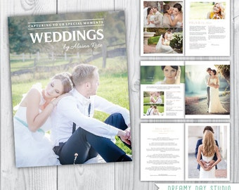 Wedding photography magazine template / 8 pages / wedding pricing template / templates for photographer / wedding photographer / INSTANT
