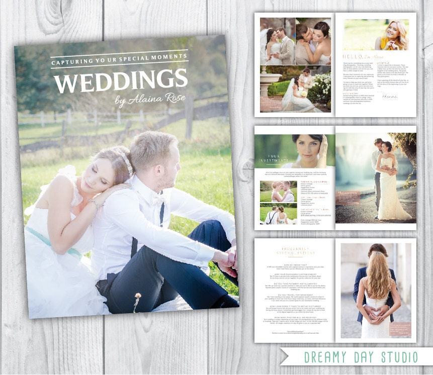 Wedding photography magazine template 8 pages wedding for Wedding photography magazine template