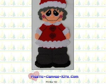 Mrs. Santa Claus Wall Hanging-Plastic Canvas Pattern-PDF Download