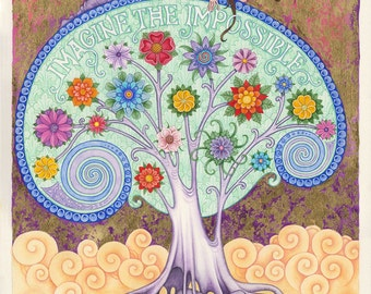 Conscious dreaming watercolour