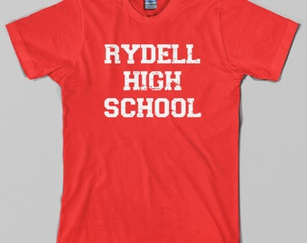 Rydell High School T Shirt - grease, musical, movie, 50s, 70s, john travolta - Graphic tee, All Sizes