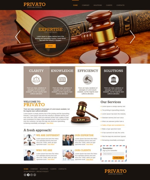 Law Firm PSD Template Website Design WordPress Website