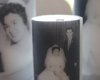 Customized Photo Candle Small