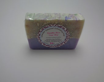Lavender Oatmeal Exfoliating Handmade Cold Process Soap