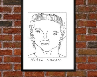Badly Drawn Niall Horan - One Direction - Poster