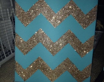 Custom Glitter Chevron (: