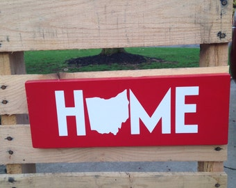 Ohio Home wall hanging sign