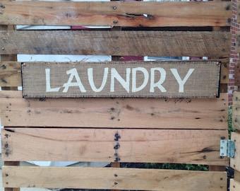 Burlap Laundry Hanging Sign