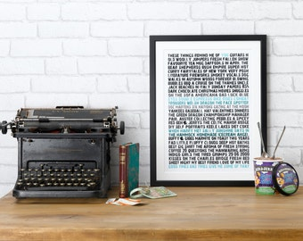 Remind Me Of You Print. memories stories funny phrases typographic word art gift for him her best man bridesmaid mum dad. Personalised