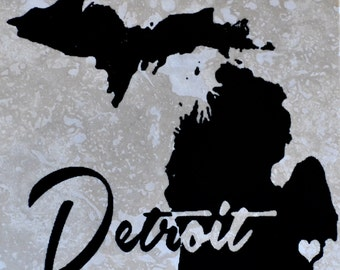 Detroit heart Coasters Free Shipping