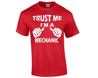 Unique mechanics shirt related items etsy for Mechanic shirts with logo