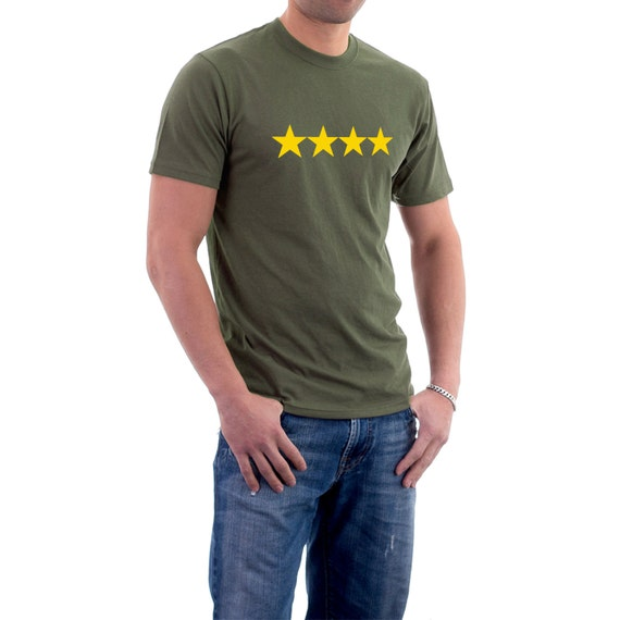 Military T-shirt : Four Star General Tee 100% Cotton Tee.