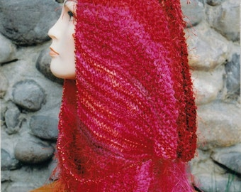 Knitted Scarf Pattern - Scarf Knitting Pattern - Shapely Scarf Pattern - Oat Couture Shapely Scarf Easy to Knit Pattern