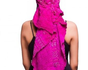 Bandhani Scarf in Girly Pink