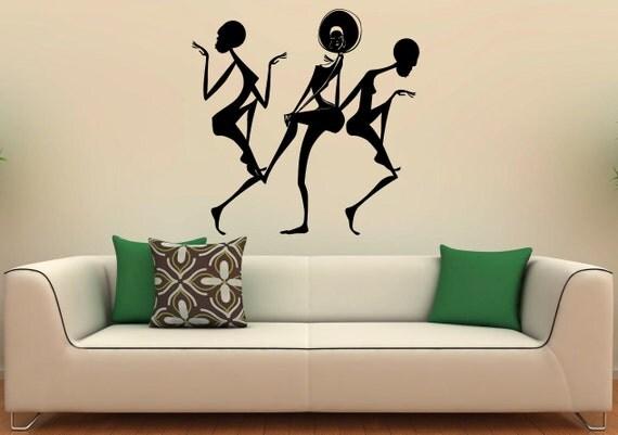 Afrique danse africaine fille wall decal vinyle autocollants for Decor traduction