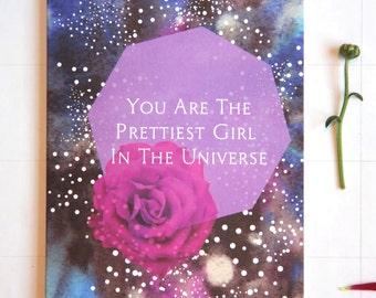 Lilac Prettiest Girl in the Universe Card
