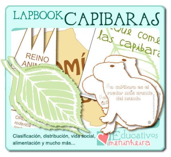 Lapbook sobre las capibaras espa ol - Plantillas para la pared ...