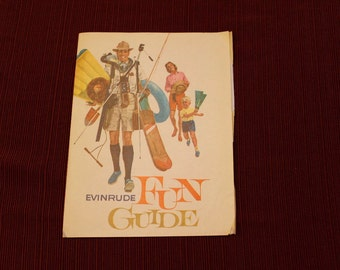"Classic Vintage Evinrude Advertising ""Fun Guide"" Brochure"
