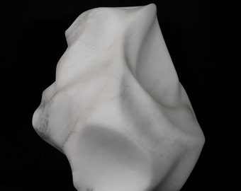 original abstract marble sculpture, 12 inches tall