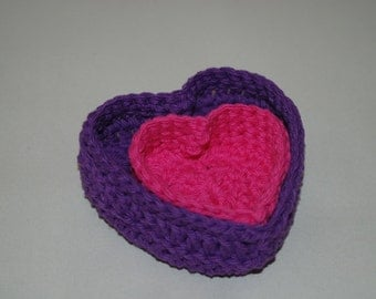 Small Valentine Heart Baskets
