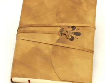 Crystal leather diary-Lily on closing flap