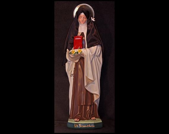 """St. Teresa of Avila 26"""" Catholic Christian Saints Plaster Religious Statue"""