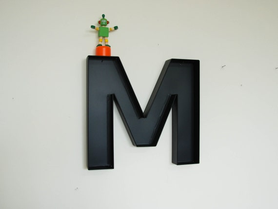 Large Metal Letter M Nursery Wall Letters M Sign Letter Wall Decor
