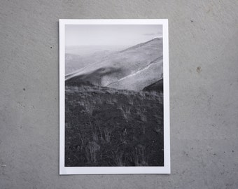 black and white photography, A3, Kurdistan, fog, mist, mountain, winter, fine art print