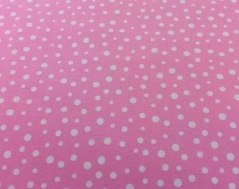 Susybee SB20171-520;  Pink Fabric with White Polka Dots