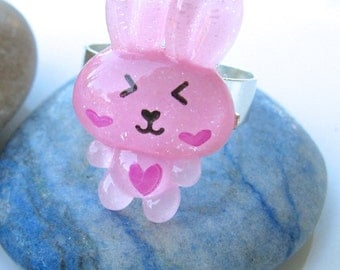 Bunny Ring, Bunny Jewelry, Kawaii Ring, Kawaii Jewelry, Rabbit Ring, Cute Ring