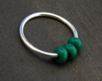 cartilage hoop earring // nose piercing // nose ring hoop