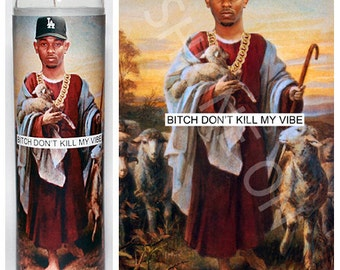 Kendrick Lamar Celebrity Prayer Candle