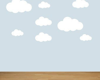 18 Cloud Shaped Wall Stickers / Wall Decals / Window Stickers by Createworks  SK036X