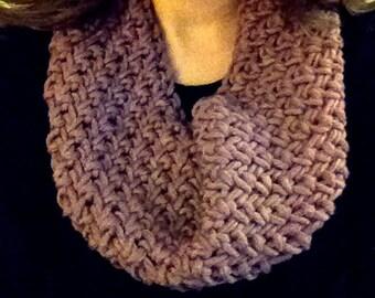 Lavender Rose Crochet Cowl Scarf