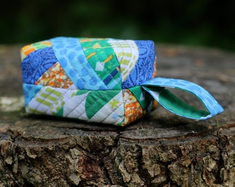 Baby Rattle - Green, Blue, Orange, Yellow, White, Geometric and Giraffe Print, Quilted Cotton Baby Rattle for Boy or Girl