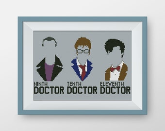 BUY 2, GET 1 FREE! Doctor Who Cross stitch pattern, pdf counted cross stitch pattern, Tardis cross stitch pattern, Instant Download, #P053