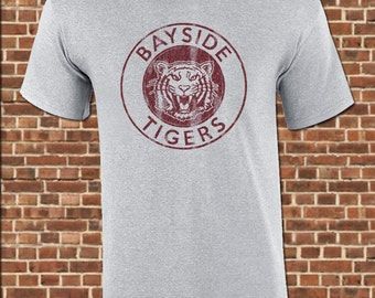 BAYSIDE TIGERS mens T-Shirt all sizes available funny saved by zack morris the bell vintage gym tee UG478
