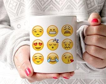 Coffee Mug Emoji Faces Mug