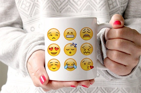 Coffee Mug Emoji Faces Mug