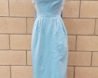 Lovely Satin 1950's Emma Domb Gown, Small