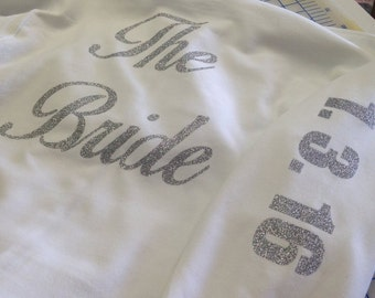 Custom Bridal Zip Up Sweatshirt