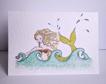 Mermaid Greeting Card 2 Pack