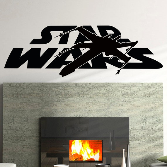 Star Wars Wall Decals X Wing Wall Decal Vinyl By Fabwalldecals