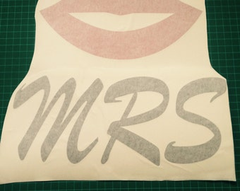 MRS Lips Vinyl Decal