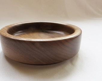 Hand finished in Walnut turned wooden Bowl / wooden bowl walnut turned hand finished