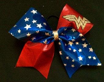 SUPER HERO Wonder Woman Cheer Bow